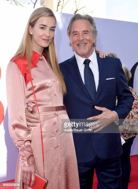 Actor Don Johnson and daughter Grace Johnson arrive at the premiere of Paramount Pictures' 'Book Club' at Regency Village Theatre on May 6 2018 in...
