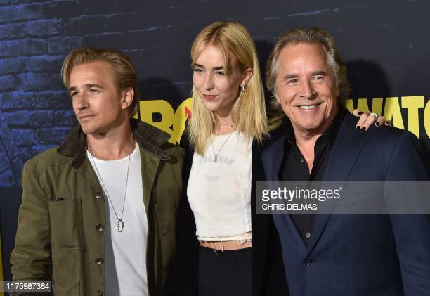 US actor Don Johnson and his children Grace and Jesse arrive for the Los Angeles premiere of the new HBO series Watchmen at the Cinerama Dome in...