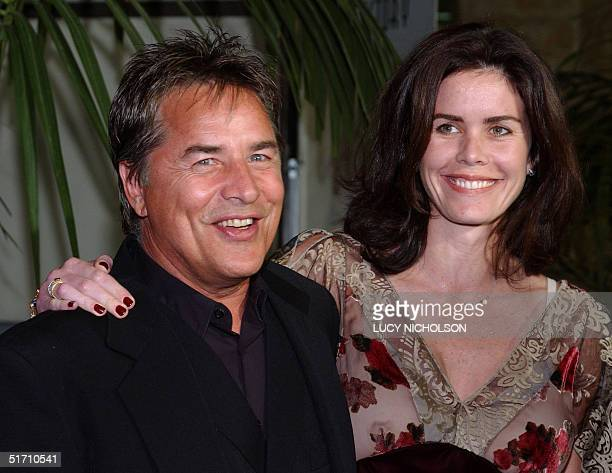 US actor Don Johnson and his wife Kelley arrive at the Fulfillment Fund Stars 2001 Benefit Gala honoring Jeffrey Katzenberg at the new Hollywood...