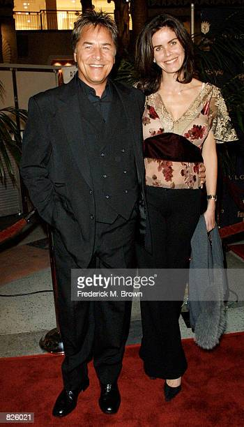 Actor Don Johnson and his wife Kelley attend the Fulfillment Fund honoring Jeffrey Katzenberg at the Stars 2001 Benefit Gala November 8, 2001 in Los...