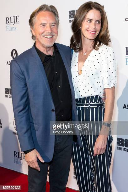 Actor Don Johnson and his wife Kelley Phleger arrive for the Premiere Of RLJE Films' Brawl In Cell Block 99 at The Egyptian Theatre on September 29...