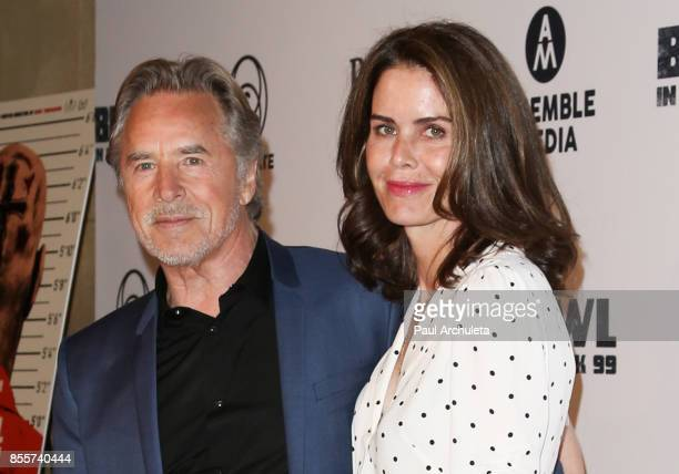 Actor Don Johnson and his wife Kelley Phleger attend the premiere of 'Brawl In Cell Block 99' at The Egyptian Theatre on September 29 2017 in Los...