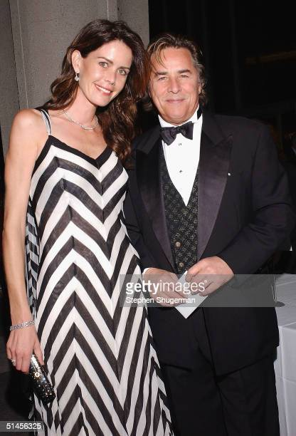 Actor Don Johnson and his wife Kelly attend the New York City Ballet Gala at the Dorothy Chandler Pavilion on October 8, 2004 in Los Angeles,...