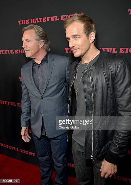 Actor Don Johnson and Jesse Johnson attend the world premiere of The Hateful Eight presented by The Weinstein Company at ArcLight Cinemas Cinerama...