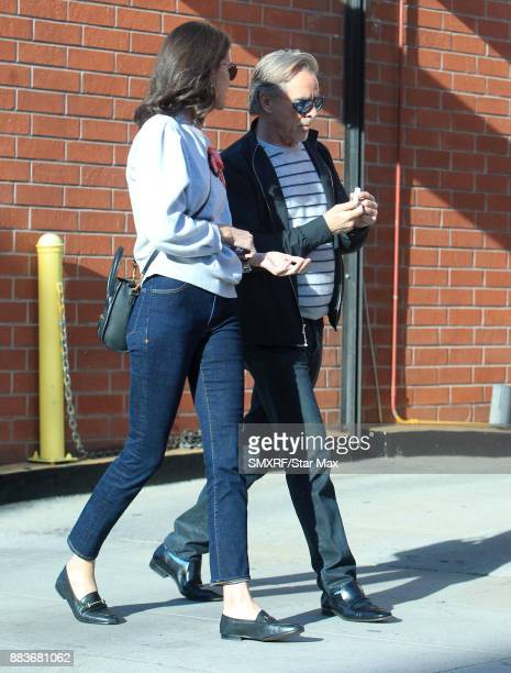 Actor Don Johnson and Kelley Phleger are seen on November 30 2017 in Los Angeles CA