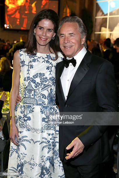 Actor Don Johnson and Kelley Phleger attend the Sixth Biennial UNICEF Ball Honoring David Beckham and C L Max Nikias presented by Louis Vuitton at...