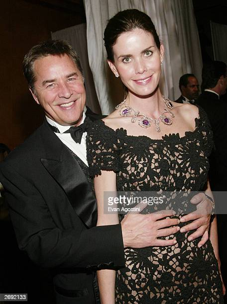 Actor Don Johnson and wife Kelley attend the cocktail party for the CBS at 75 television gala at the Hammerstein Ballroom November 2 2003 in New York...