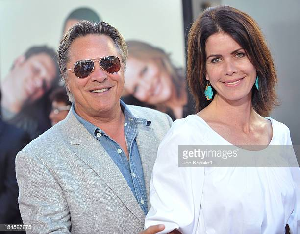 Actor Don Johnson and wife Kelley Phleger arrive at the Los Angeles Premiere Funny People at the ArcLight Hollywood on July 20 2009 in Hollywood...