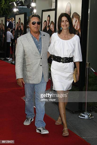 """Actor Don Johnson and wife Kelley Phleger arrive at the Los Angeles premiere of """"Funny People"""" at the ArcLight Hollywood on July 20, 2009 in..."""