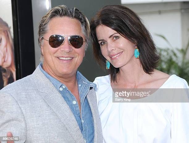 Actor Don Johnson and wife Kelley Phleger arrive at the Los Angeles premiere of Funny People at the ArcLight Hollywood on July 20 2009 in Hollywood...