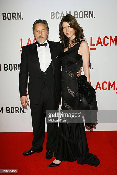 Actor Don Johnson and wife Kelley Phleger arrive at the opening celebration of the Broad Contemporary Art Museum at held at LACMA Museum on February...