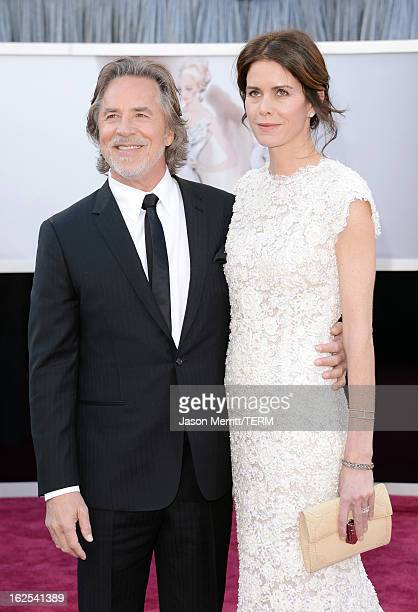 Actor Don Johnson and wife Kelley Phleger arrive at the Oscars at Hollywood & Highland Center on February 24, 2013 in Hollywood, California.