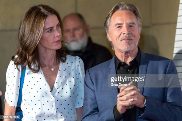 Actor Don Johnson and wife Kelley Phleger arrives for the Premiere Of RLJE Films' 'Brawl In Cell Block 99' at The Egyptian Theatre on September 29...