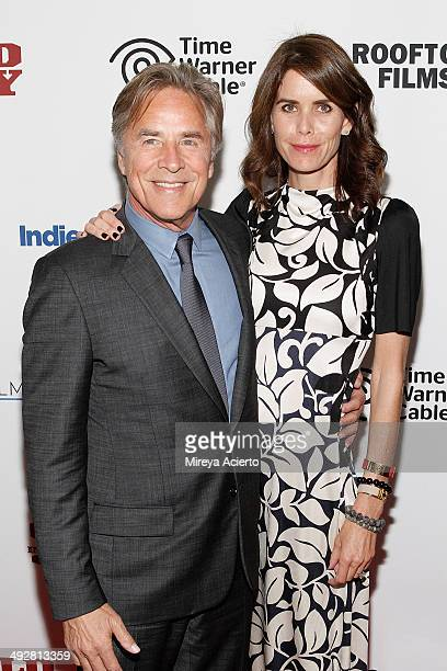 Actor Don Johnson and wife Kelley Phleger attend Cold In July screening at Solar One on May 21 2014 in New York City