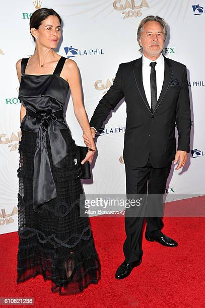 Actor Don Johnson and wife Kelley Phleger attend Los Angeles Philharmonic's 2016/17 Opening Night Gala Gershwin and the Jazz Age at Walt Disney...
