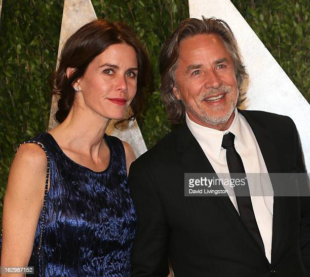 Actor Don Johnson and wife Kelley Phleger attend the 2013 Vanity Fair Oscar Party at the Sunset Tower Hotel on February 24, 2013 in West Hollywood,...