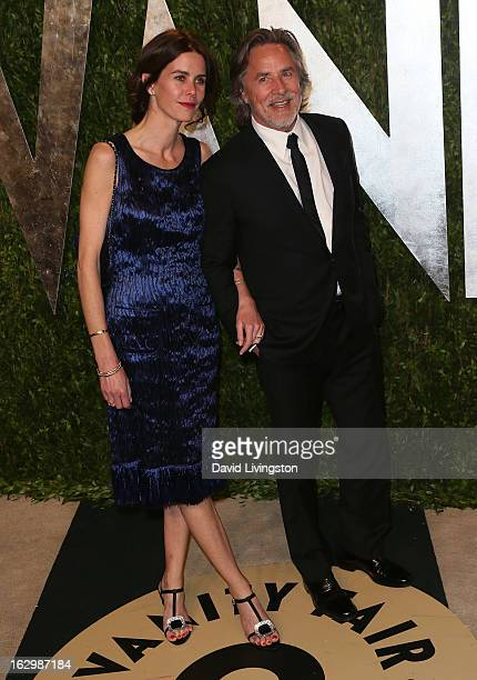 Actor Don Johnson and wife Kelley Phleger attend the 2013 Vanity Fair Oscar Party at the Sunset Tower Hotel on February 24 2013 in West Hollywood...