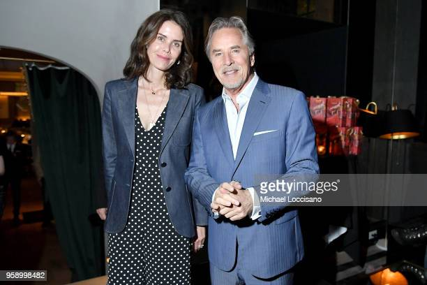 Actor Don Johnson and wife Kelley Phleger attend the after party following the New York screening of Book Club at Omar at Vaucluse on May 15 2018 in...