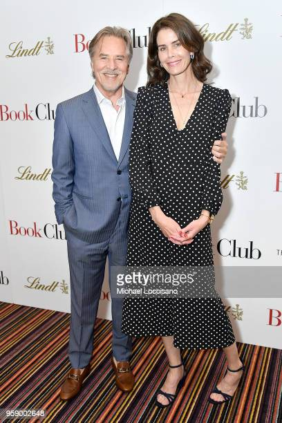 Actor Don Johnson and wife Kelley Phleger attend the New York screening of Book Club at City Cinemas 123 on May 15 2018 in New York City