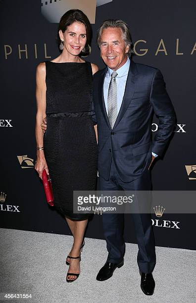 Actor Don Johnson and wife Kelley Phleger attend the LA Philharmonic's Walt Disney Concert Hall Opening Night Concert and Gala at Walt Disney Concert...