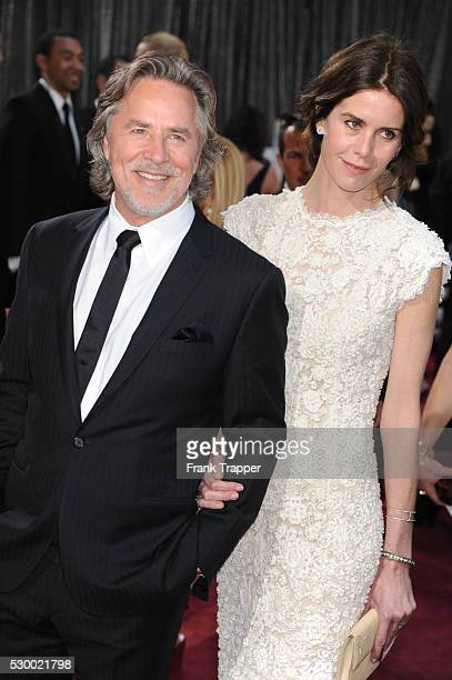 Actor Don Johnson and wife Kelley Phleger on the red carpet at the 85th Academy Awards held at the Dolby Theater in Hollywood