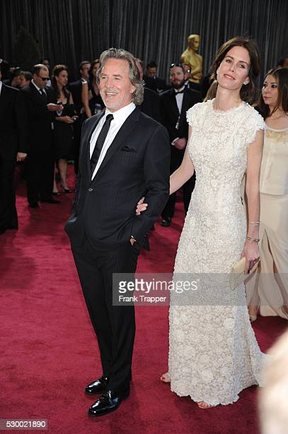 Actor Don Johnson and wife Kelley Phleger on the red carpet at the 85th Academy Awards held at the Dolby Theater in Hollywood.