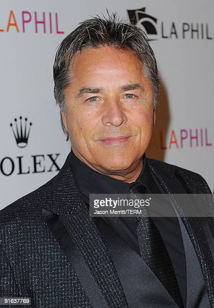 Actor Don Johnson arrives at the Inaugural Gala of the Los Angeles Philharmonic at the Walt Disney Concert Hall on October 8 2009 in Los Angeles...