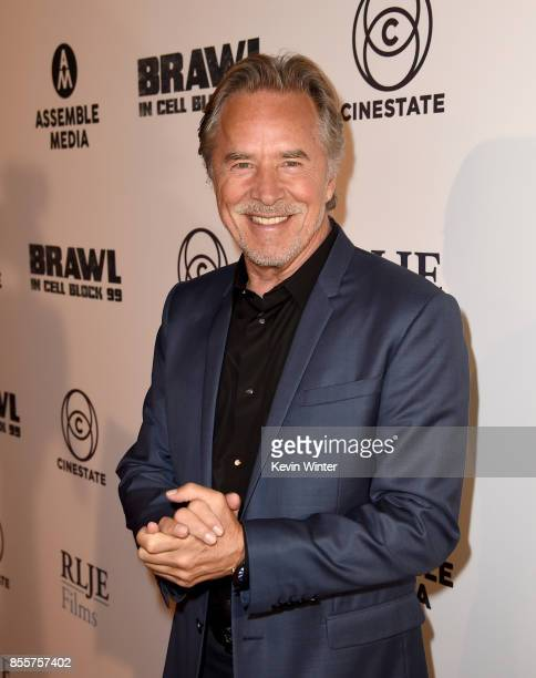 Actor Don Johnson arrives at the premiere of RLJE Films' 'Brawl In Cell Block 99' at the Egyptain Theatre on September 29 2017 in Los Angeles...