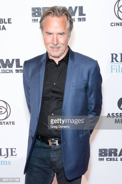 Actor Don Johnson arrives for the Premiere Of RLJE Films' 'Brawl In Cell Block 99' at The Egyptian Theatre on September 29 2017 in Los Angeles...