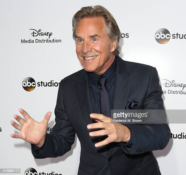 Actor Don Johnson attends Disney Media Disribution International Upfronts at Walt Disney Studios on May 17 2015 in Burbank California
