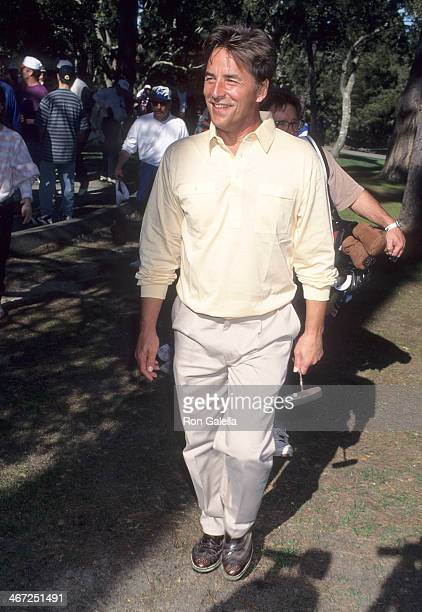 Actor Don Johnson attends the 55th Annual ATT Pebble Beach National ProAm Golf Championship on February 2 1995 at the Pebble Beach Golf Links in...
