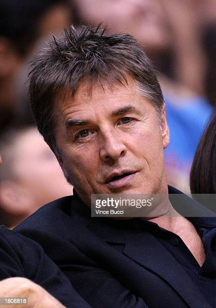 Actor Don Johnson attends the game between the Los Angeles Lakers and the Portland Trailblazers on February 21 2003 at Staples Center in Los Angeles...
