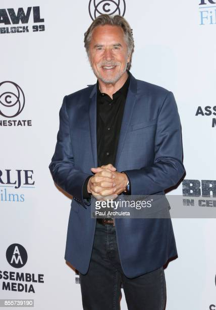 Actor Don Johnson attends the premiere of 'Brawl In Cell Block 99' at The Egyptian Theatre on September 29 2017 in Los Angeles California