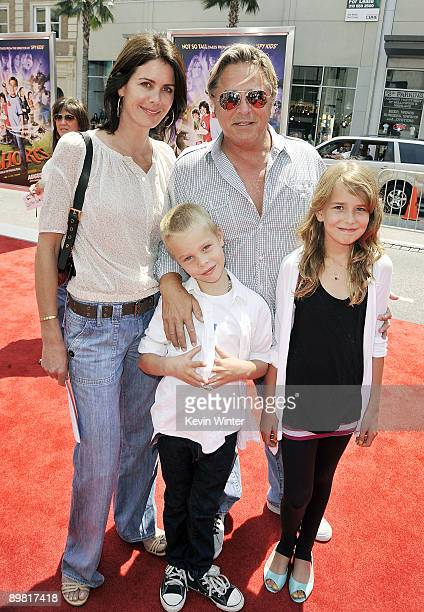 """Actor Don Johnson, his wife Kelley their son Jasper and daughter Atherton arrive at the premiere of Warner Bros.' """"Shorts"""" at the Chinese Theater on..."""