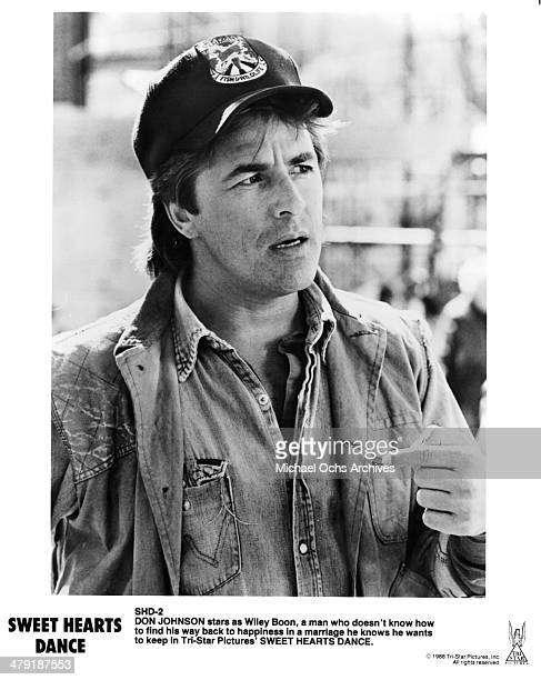 Actor Don Johnson in a scene of the the movie Sweet Hearts Dance circa 1988