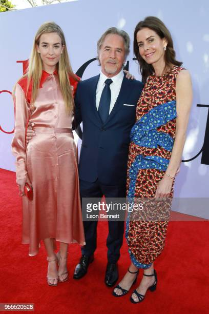 Actor Don Johnson Kelley Phleger and Grace Johnson attend Paramount Pictures' Premiere Of Book Club Red Carpet at Regency Village Theatre on May 6...