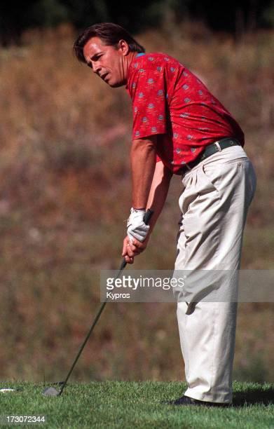 Actor Don Johnson playing golf at Aspen Colorado circa 1992