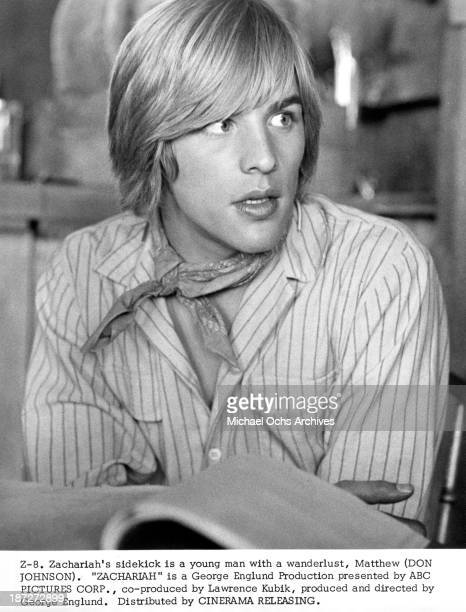 Actor Don Johnson set of the movie 'Zachariah' in 1971