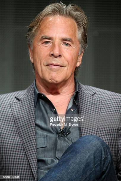 Actor Don Johnson speaks onstage during the 'Blood & Oil' panel discussion at the ABC Entertainment portion of the 2015 Summer TCA Tour at The...