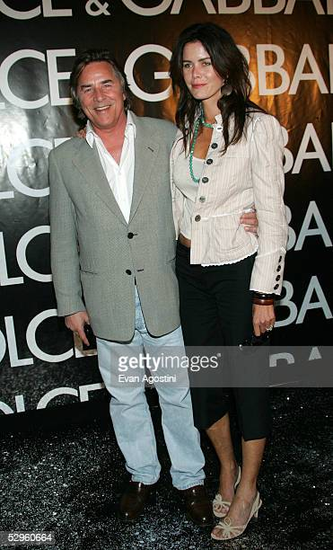 Actor Don Johnson with wife Kelley Phleger arrives at the Dolce and Gabana Party at the Palm Beach VIP lounge during the 58th International Cannes...