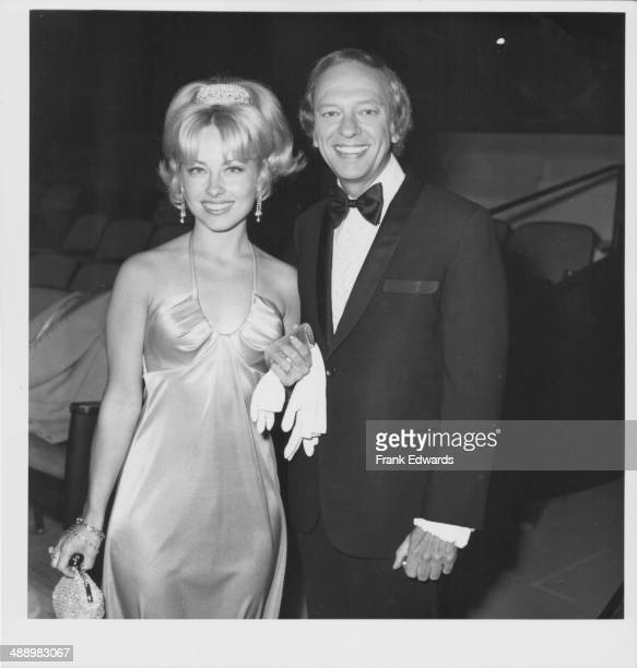 Actor Don Knotts with his wife Loralee Czuchna attending the Los Angeles Television Awards 1975
