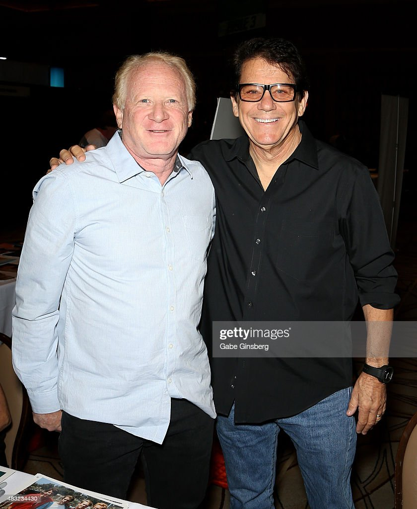 Actor Don Most (L) and actor/director Anson Williams attend the 14th annual official Star Trek convention at the Rio Hotel & Casino on August 6, 2015 in Las Vegas, Nevada.