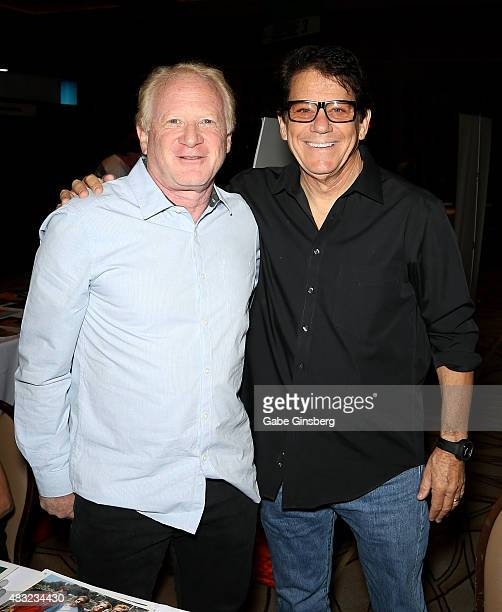 Actor Don Most and actor/director Anson Williams attend the 14th annual official Star Trek convention at the Rio Hotel Casino on August 6 2015 in Las...