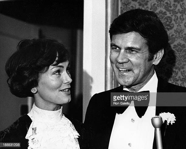 Actor Don Murray and wife attend The Lambs Club Centennial Gala on December 3 1974 in New York City