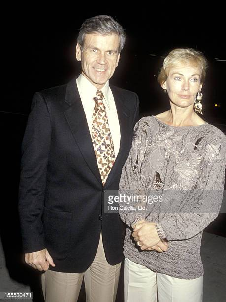 Actor Don Murray and wife Bettie Johnson attend the 13th Annual American Music Awards After Party on January 27 1986 at Le Dome Restaurant in West...