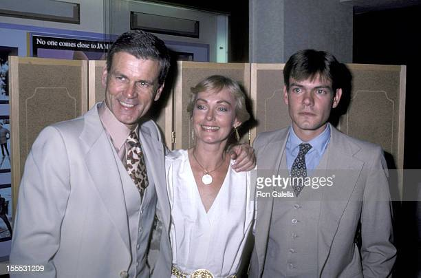 Actor Don Murray wife Bettie Johnson and son Christopher Murray attend the Endless Love New York City Premiere on July 16 1981 at the Gemini Theatre...