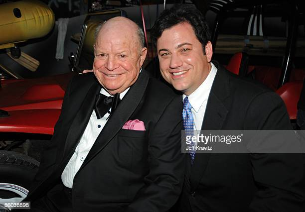 Actor Don Rickles and presenter Jimmy Kimmel poes at the 7th Annual TV Land Awards held at Gibson Amphitheatre on April 19 2009 in Universal City...