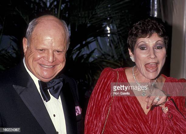 Actor Don Rickles and wife Barbara Sklar attend 17th Annual American Film Institute Lifetime Achievement Awards on March 9 1989 at the Beverly Hilton...