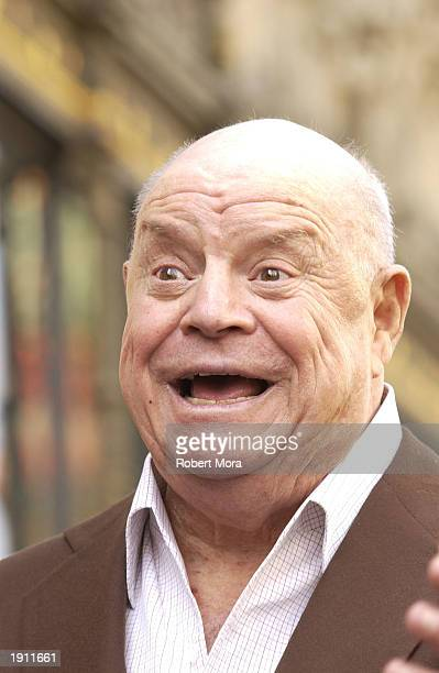 Actor Don Rickles attends the ceremony for Regis Philbin receiving a Star on the Hollywood Walk of Fame on April 10 2003 in Hollywood California