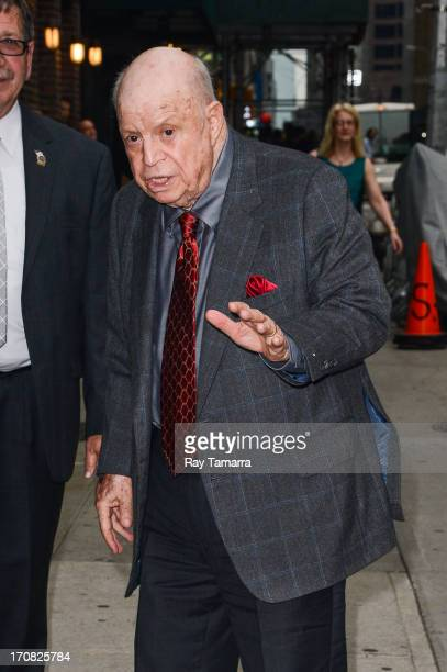 Actor Don Rickles enters the 'Late Show With David Letterman' taping at the Ed Sullivan Theater on June 18 2013 in New York City